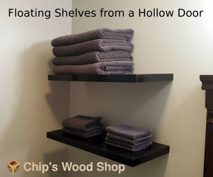 Floating Shelves From a Hollow Door