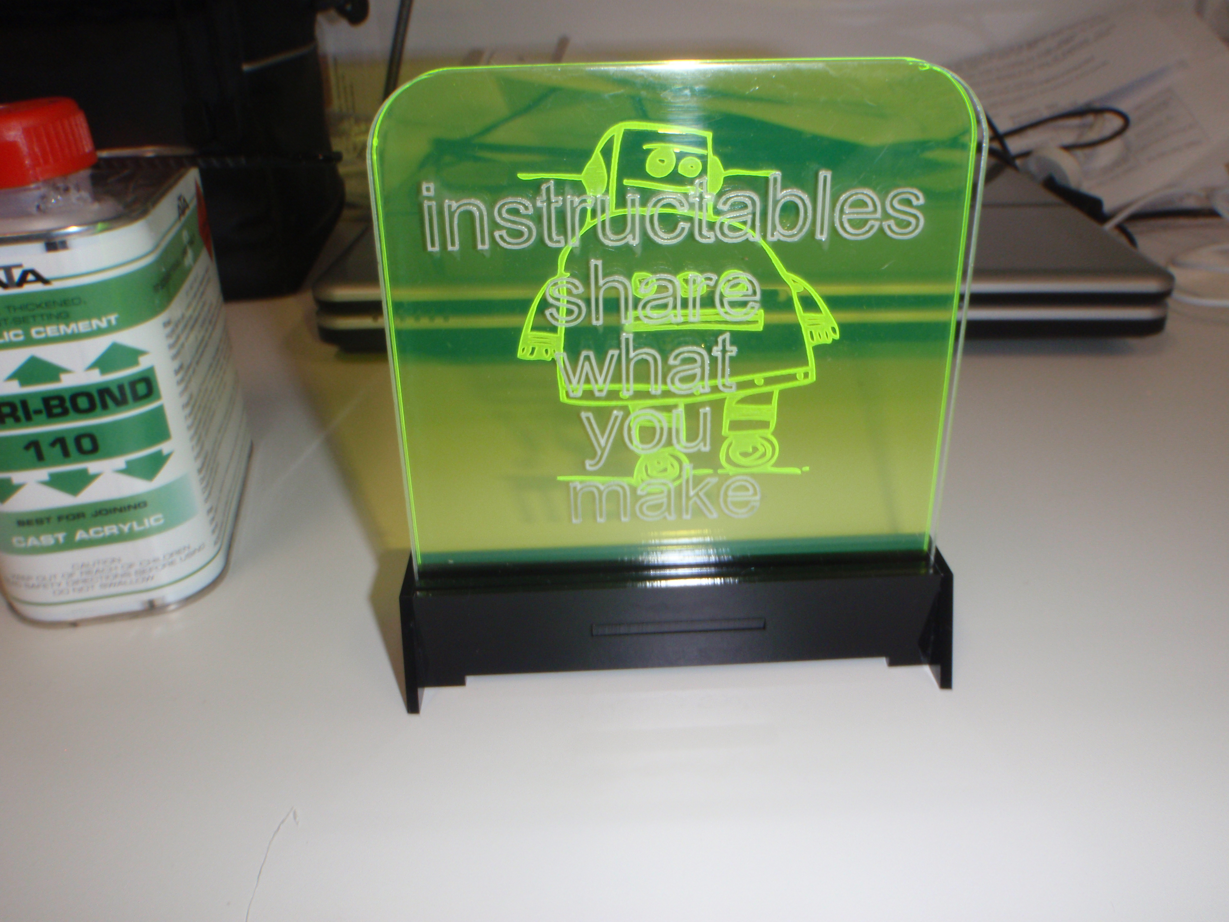 Picture of Making the Laser Cut Base (blinking Sign)