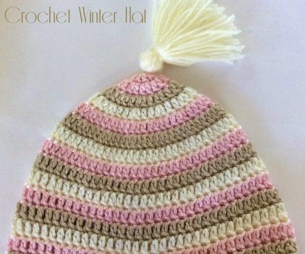 Simple Crochet Winter Hat