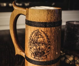 Making Beer Tankards on the Lathe