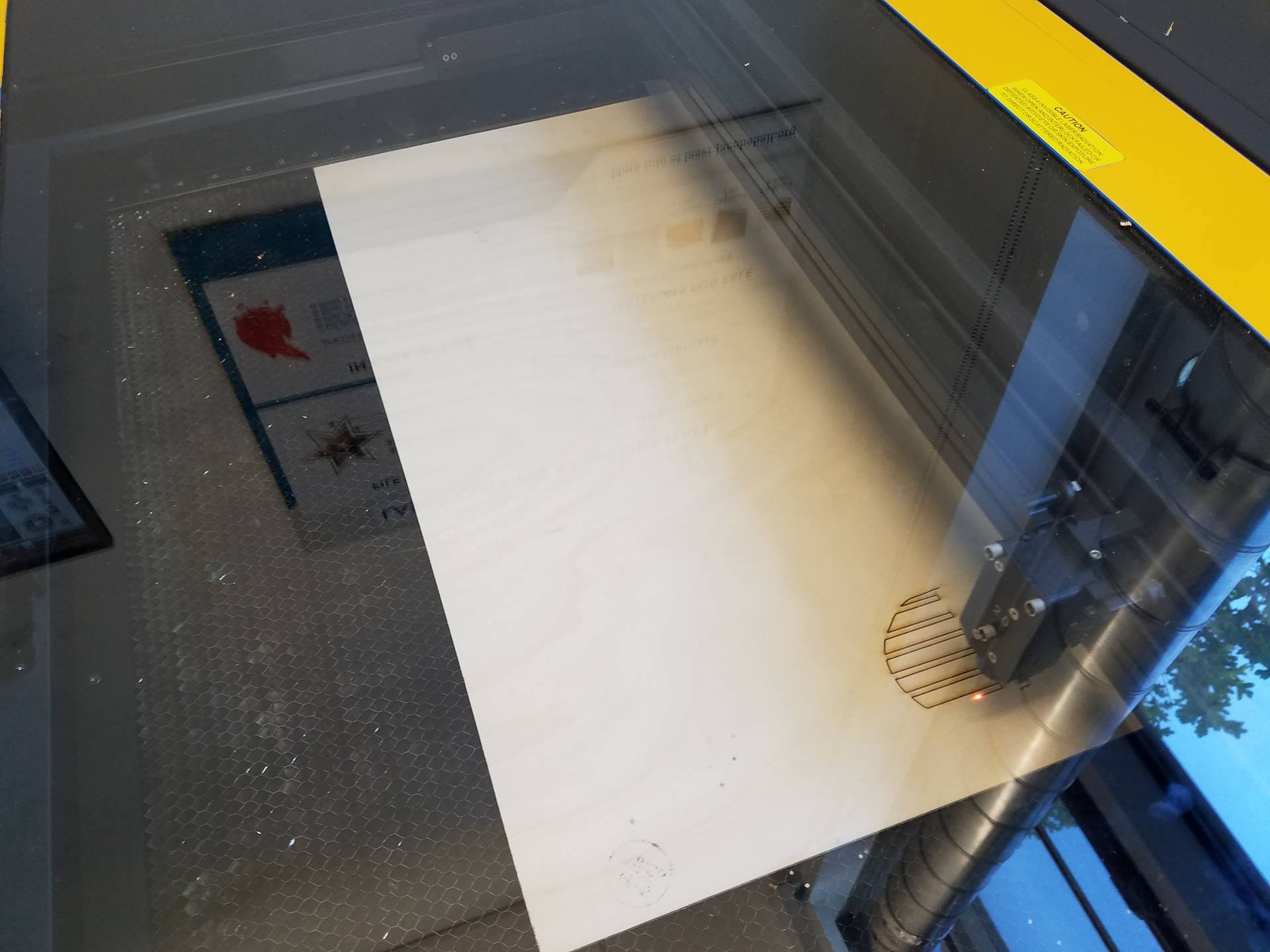 Picture of Laser Cutting the Parts