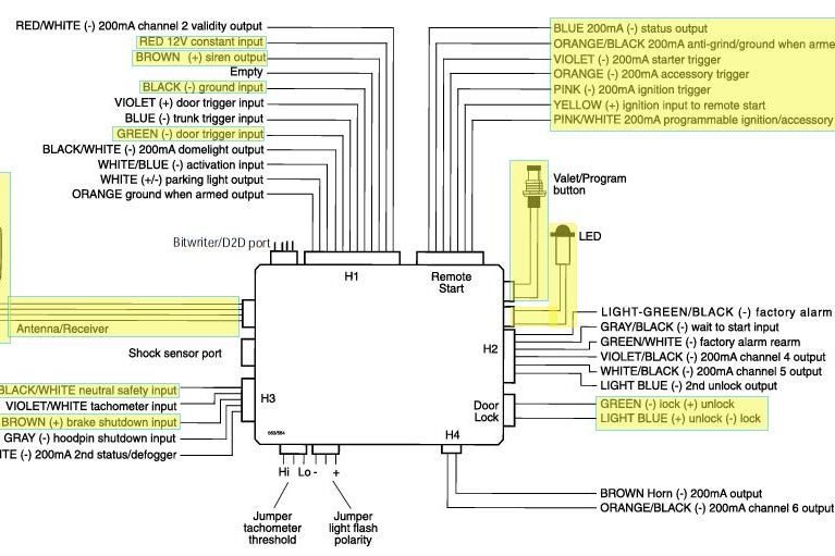 valet remote car starter wiring diagram  honda helix 250