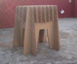 Amazing Cardboard Stool