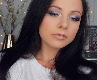 Quick Smokey Blue Makeup Look