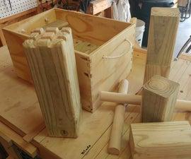 How to Build Kubb (Viking Chess)