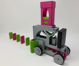 Pink and Green Domino Machine II