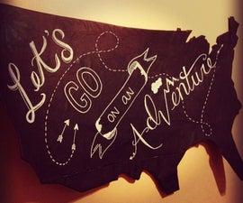 DIY Chalkboard USA