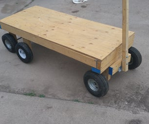 6 Wheel Garden Wagon
