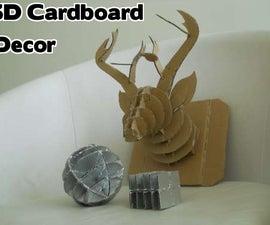 3D Cardboard Decor