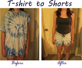 Make a pair of comfy shorts out of an old T-shirt