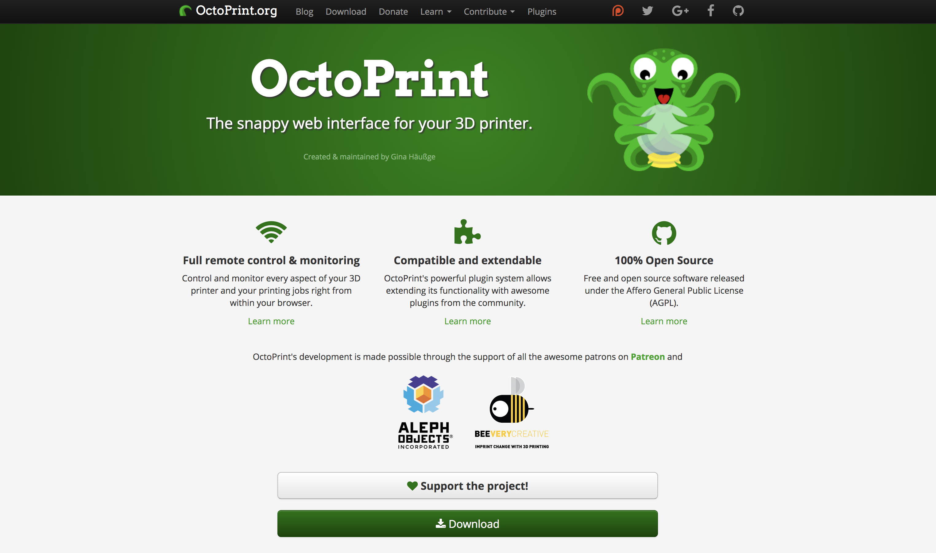 Picture of Download OctoPrint