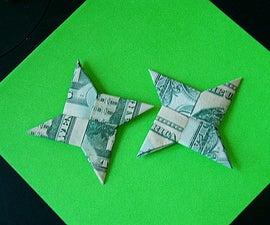 Dollar Bill Shuriken (Origami Ninja Star) **Now with Video