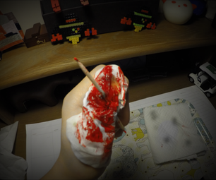 Quick Last Minute Bloody Tooth-Picked Wound SFX