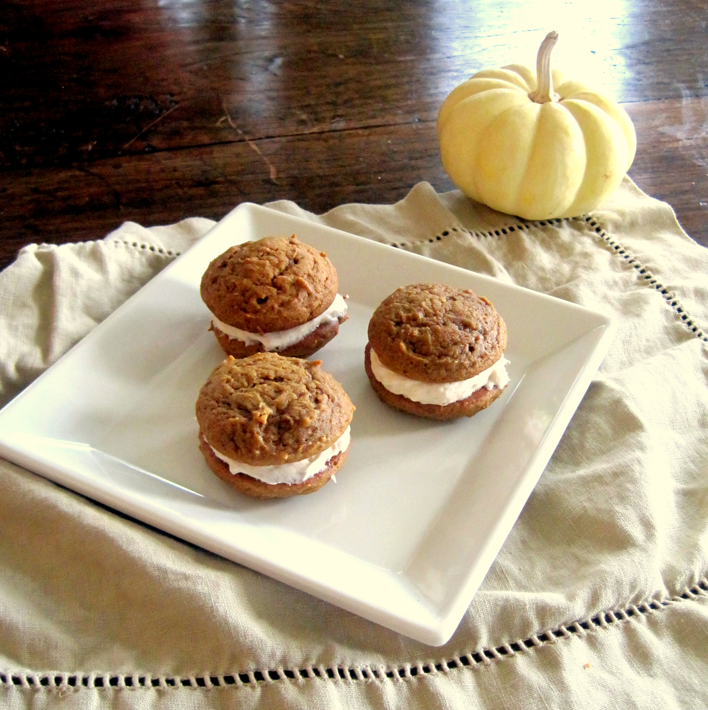 Picture of Pumpkin Spice Whoopie Pies With Cinnamon Cream Cheese Frosting