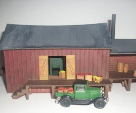 3D Printed Old Time Cider Mill in HO Scale