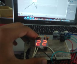 PING with two 7 segment LED displays.