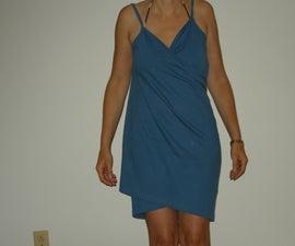 Wrap Dress:  A pocket-sized swim suit cover-up/towel