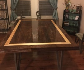 Dining Table Top From Hardwood Flooring