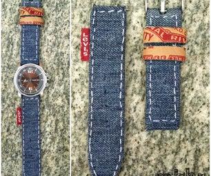 DIY Denim Watch Strap