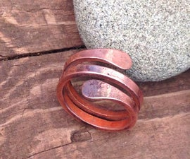 .:.HAMMERED MEN'S COPPER RING.:.