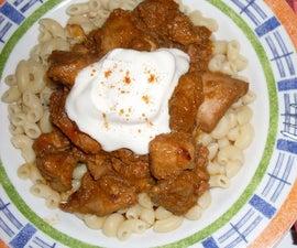 Turkey Stew (Hungarian Dish)