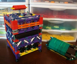 How to make a K'nex solar alarm clock with built in small electronics charger and lockbox.