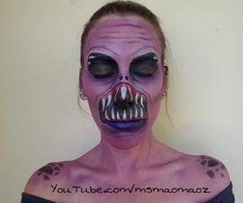 Cheap target Halloween makeup - alien edition
