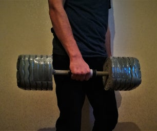 DIY Concrete Dumbbells