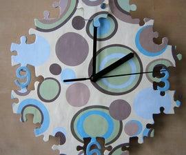 Jigsaw Puzzle Clock