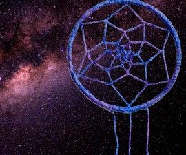 Glow in the Dark Galaxy Dream Catcher
