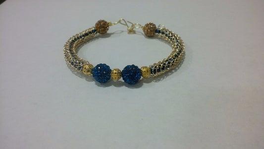 Viking Knit Beaded Bracelet