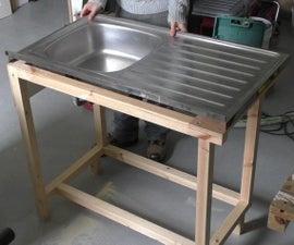 Custom Kitchen Sink Cabinet