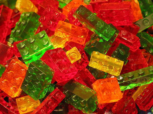 Picture of Lego Brick Shaped Gummy Candies