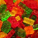 Lego brick shaped gummy candies