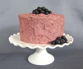 Lemon Olive Oil Cake w/ Blueberry Balsamic Buttercream