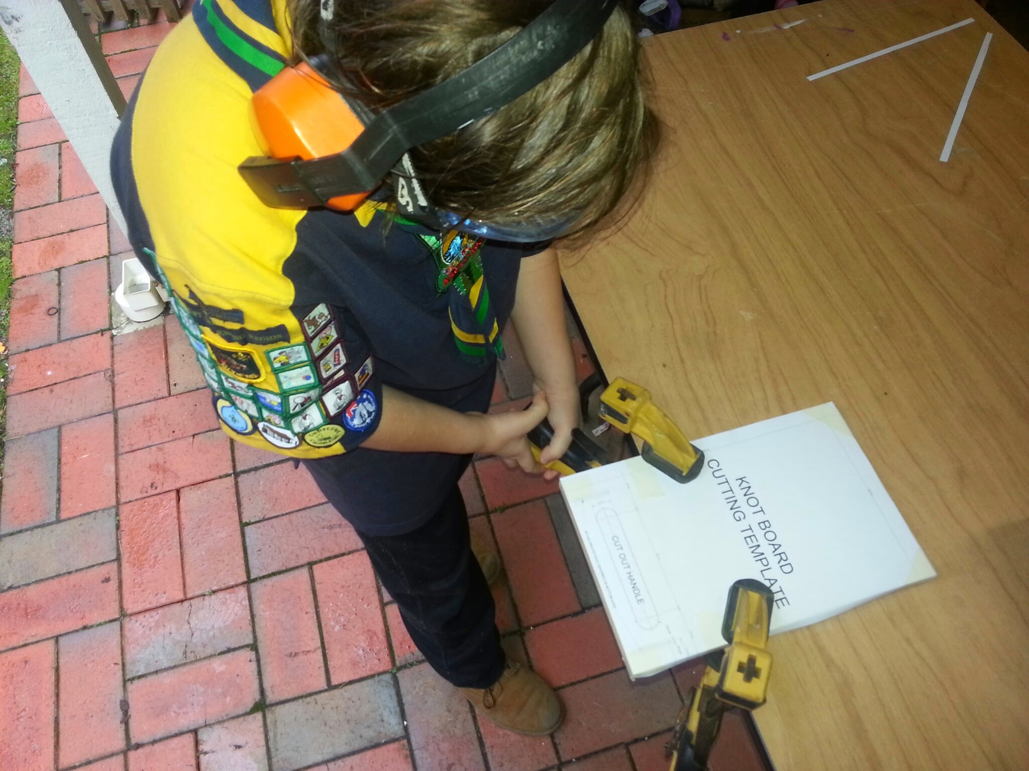 Picture of Drilling the Knot Board