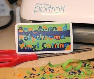 Multi Coloured Vinyl Cutting