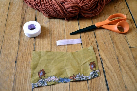 Add Scrap Fabric to Scarf