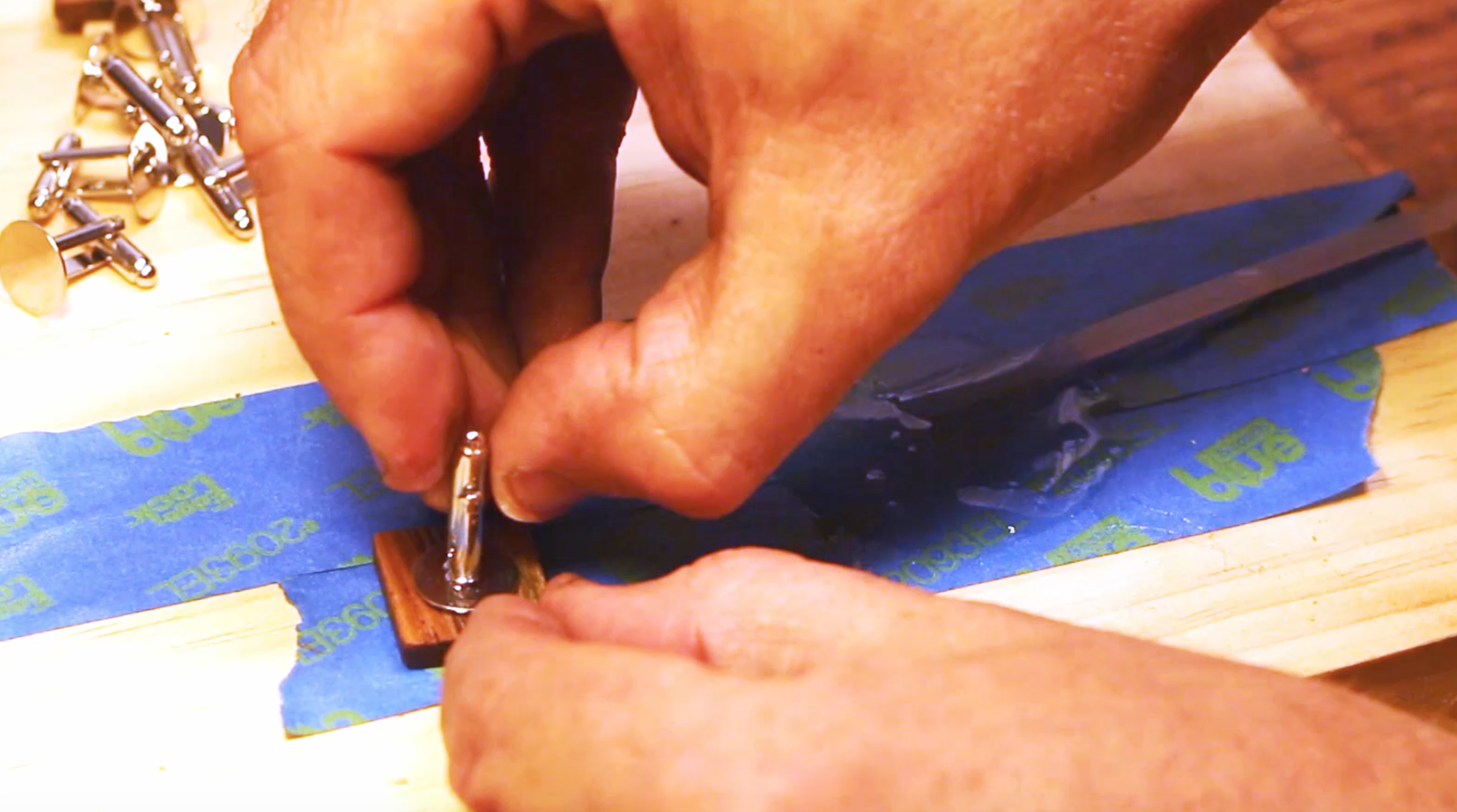 Picture of Finishing Off the Cufflinks