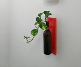 Wine Bottle Hanging Indoor Planter