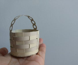 Paper Weaved Basket