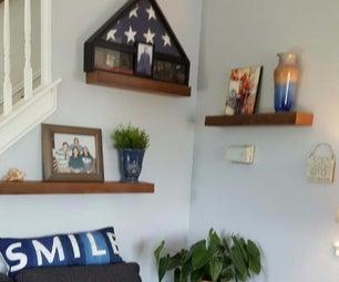 Recycled Wood Flooring Modern Shelf