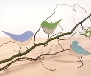 Wooden Birds - Spring Craft