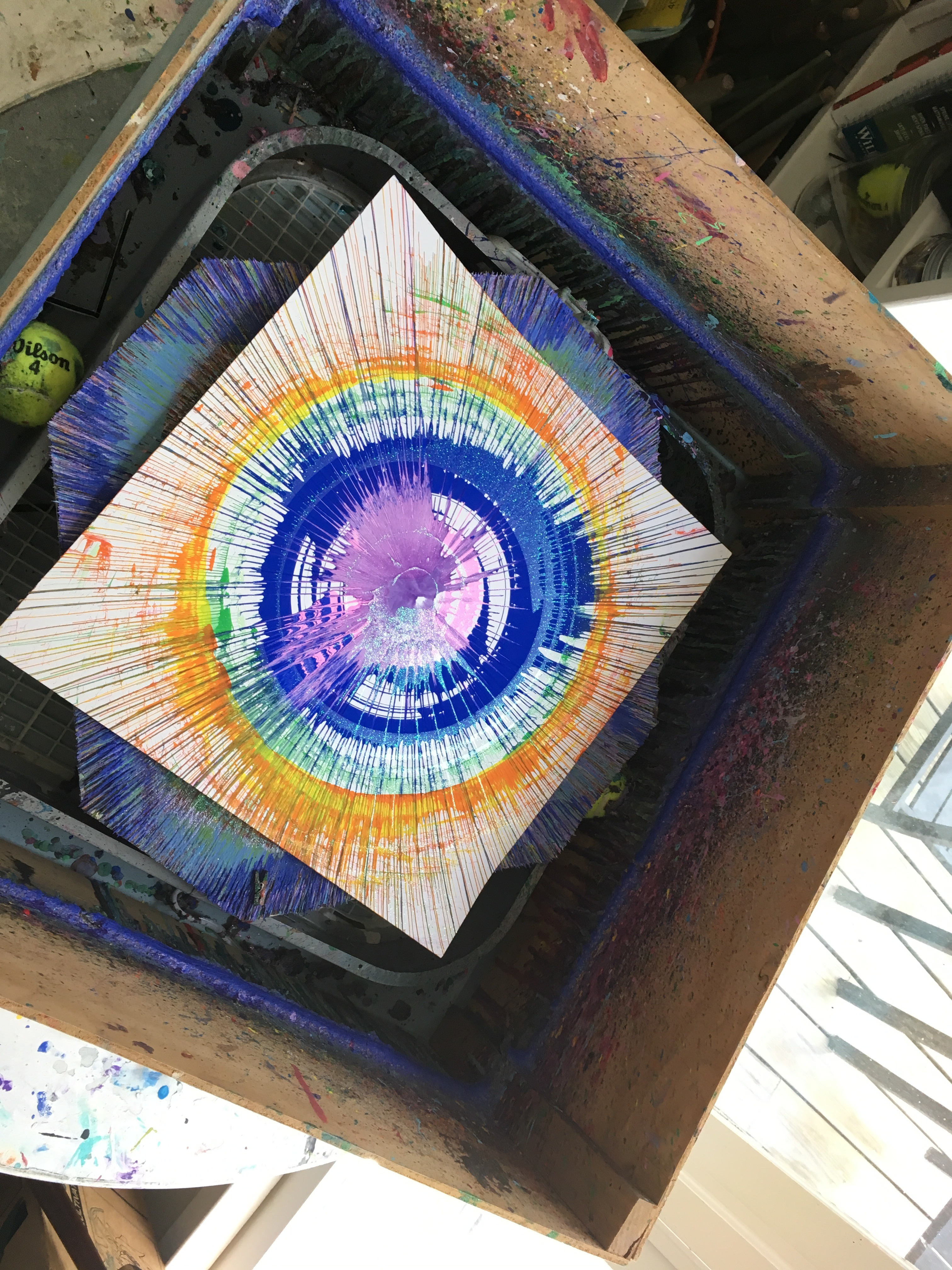 Picture of DIY Giant Spin Art Made From an Old Box Fan!