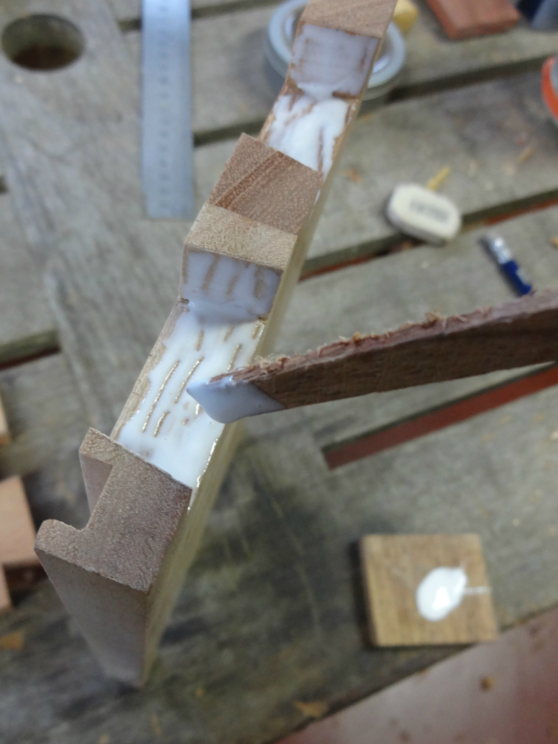 Picture of Gluing Up the Box and Plugging Pin Holes