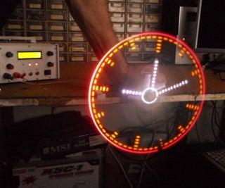 Analog Style Led POV Clock With Arduino Nano