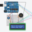 Using LCD With a Piezo Speaker (Christmas Theme)