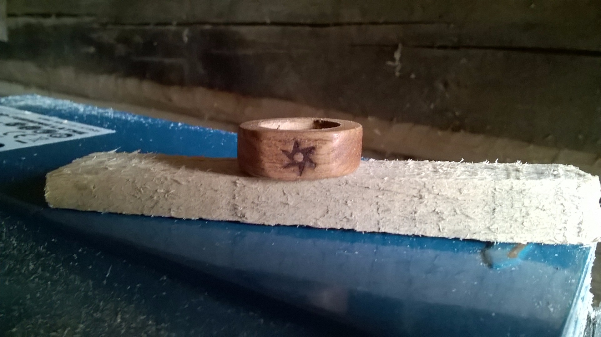 Picture of Wood Rings (made Only With a Drill)