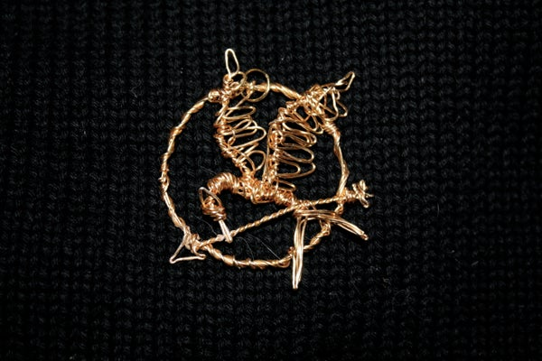 Wire-Wrapped Mockingjay Pendant