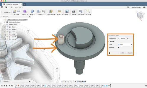 Add Rigid As-Built Joints to the Rotor Subassembly